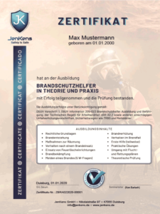 Brandschutzhelfer Zertifikat