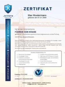 Kranführer Zertifikat